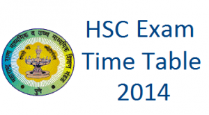 HSC Exam Time Table 2014 | Maharashtra state board HSC exam 2014