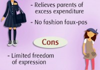 pros and cons of uniform at school