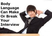 Why body language is important during a job interview